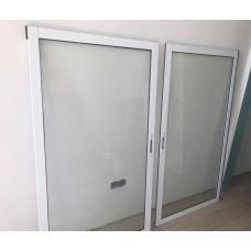 Алюминиевая балконная рама раздвижная 2-х створч